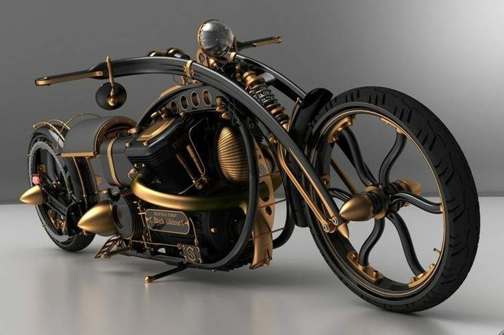 Black Widow Steampunk Chopper - something kinda cool about this, even if not my usual taste