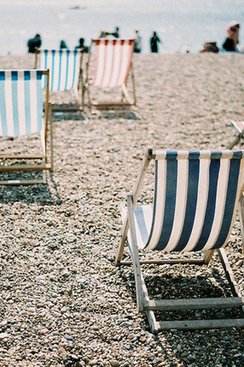 beach chairsBeach Chairs, Summer Beach, At The Beach, Sea, Summer Lovin, Beach Time, Stripes, Decks Chairs, Beach Life