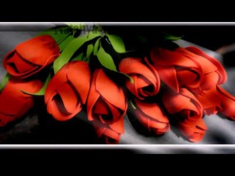 Тюльпан из фома мастер класс - YouTube