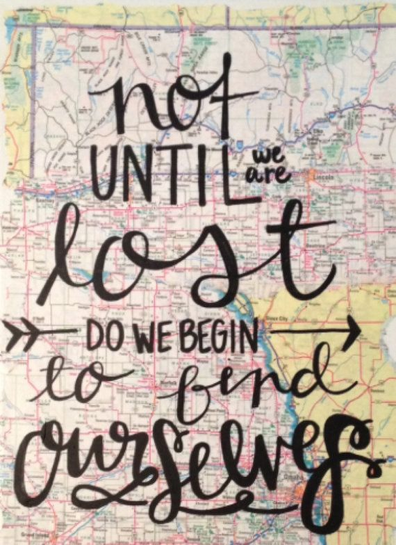 Map Travel Canvas Quote  Find Yourself by kalligraphy on Etsy, $35.00
