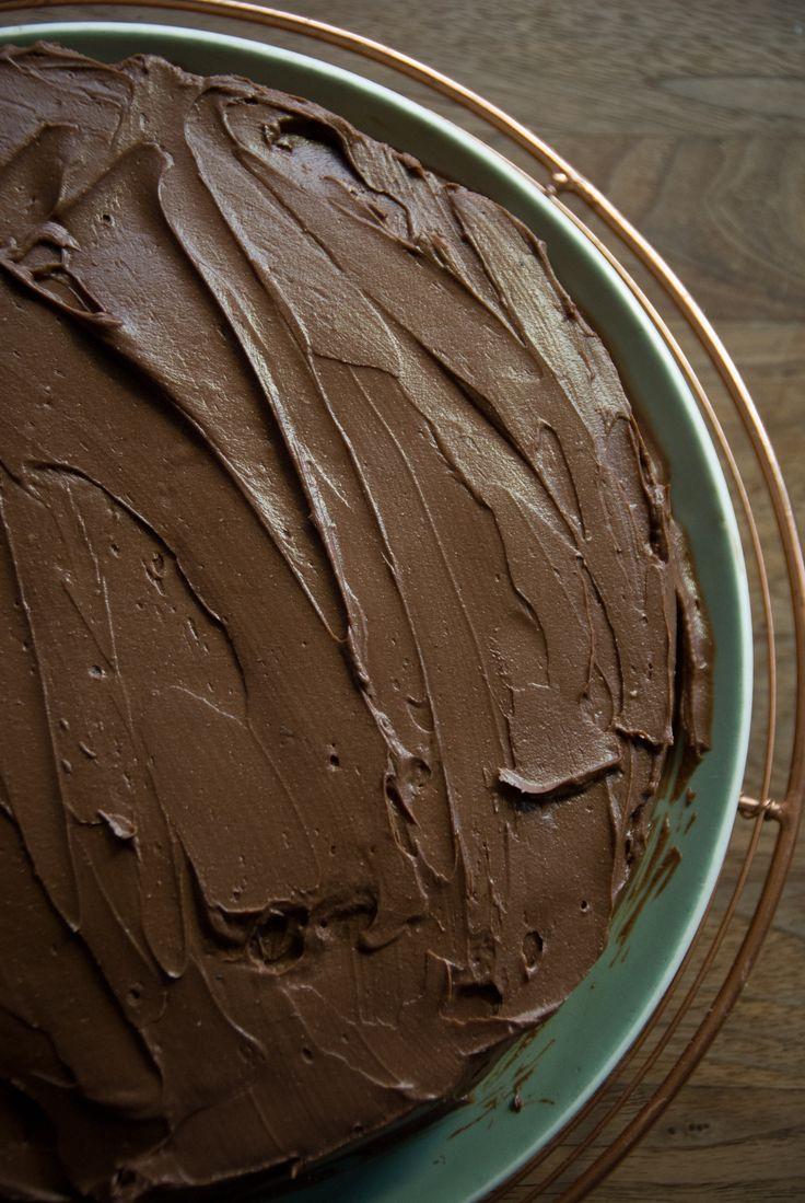 Chocolate Zucchini Cake + Chocolate Cream Cheese Ganache - Rusty Skillet Blog Gluten Free + Dairy Free option