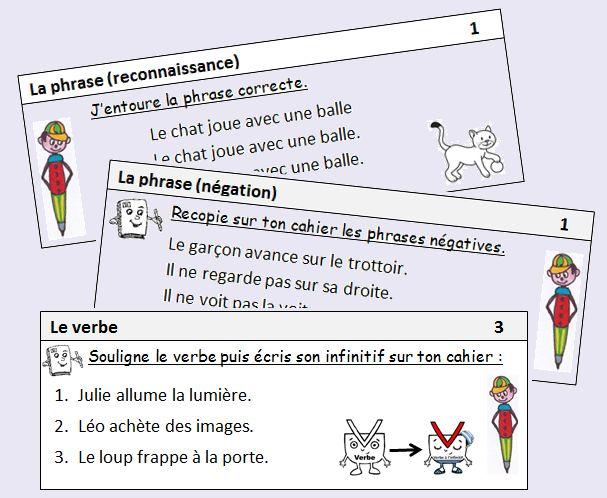 Exercices quotidiens en grammaire et conjugaison