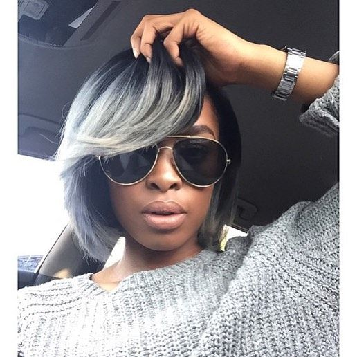 Crushing On This Grey Bob Colored By Londonstylist Lajawihair Knaomin