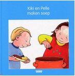 Prentenboek - Kiki en haar vriendje Pelle koken soep en eten die samen op. Vierkant prentenboek met statische tekeningen in kleur. Vanaf ca. 4 jaar.