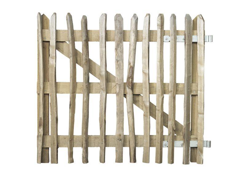 Kastanjehouten Deurhek Afrastering Deur Schapenhek 90 x 100 cm