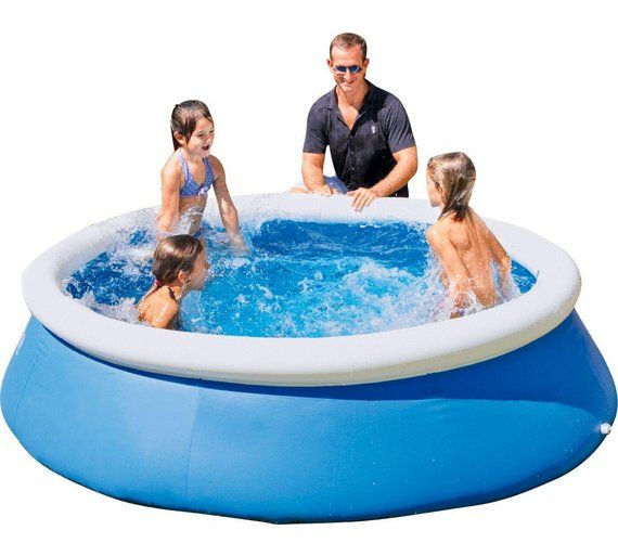 Buy bestway quick up octagonal family pool 8ft 2300 for Biggest paddling pool