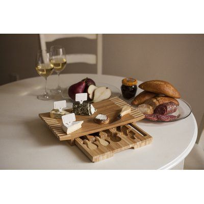 Picnic Time Concavo Cutting Cheese Tray