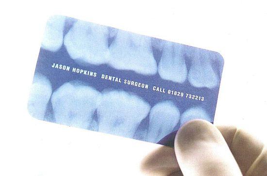 Unique Business Card - Dental Surgeon