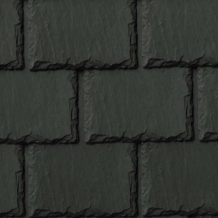 Inspire Synthetic Slate Shingles   Aledora Slate   Charcoal Black