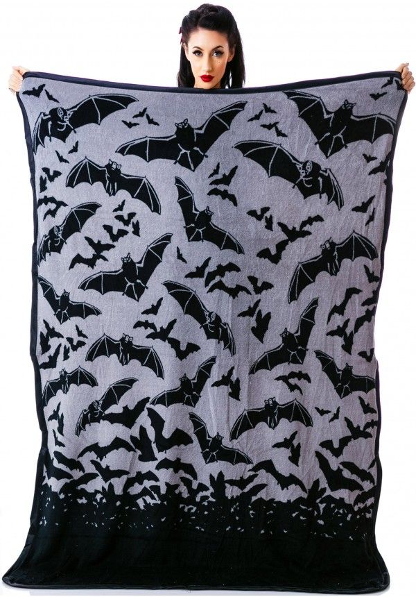 Sourpuss Clothing Bat Country Blanket. great for a beach towel. May use one this summer on gothlings.co.uk's beach party trip