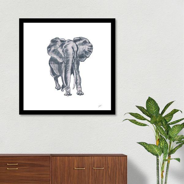 Découvrez «Elephant», Édition Limitée Affiches d'art par David Damour - À partir de 27€ - Curioos