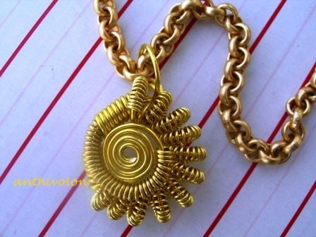 """""""Wire coil necklace"""""""