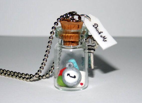 Wonderland Fantasy Realm Necklace or Keychain by SplatterPalette