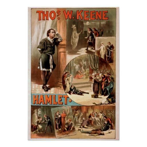 "William Shakespeare ""Hamlet"" Theatre Poster | Zazzle.com ..."