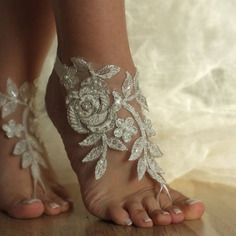 Çıplak ayak beach beach düğün fildişi düğün yalınayak sandalet sandalet