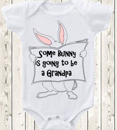 Easter pregnancy announcement idea baby by the1styearbaby on etsy