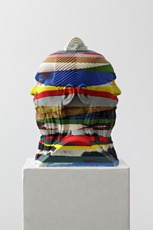"Oliver Laric's ""Sun Tzu Janus,"" 2012, Polyurethane and pigments  Tanya Leighton Gallery"
