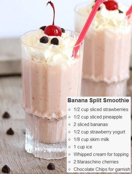 Banana Split Banana Split Smoothie | Smoothies | Pinterest | Banana ...