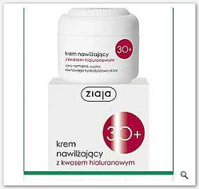 ZIAJA KREMY 30+ Krem nawilżający kwas hialuronowy sk sucha normalna do twarzy szyi na dzień 50ml