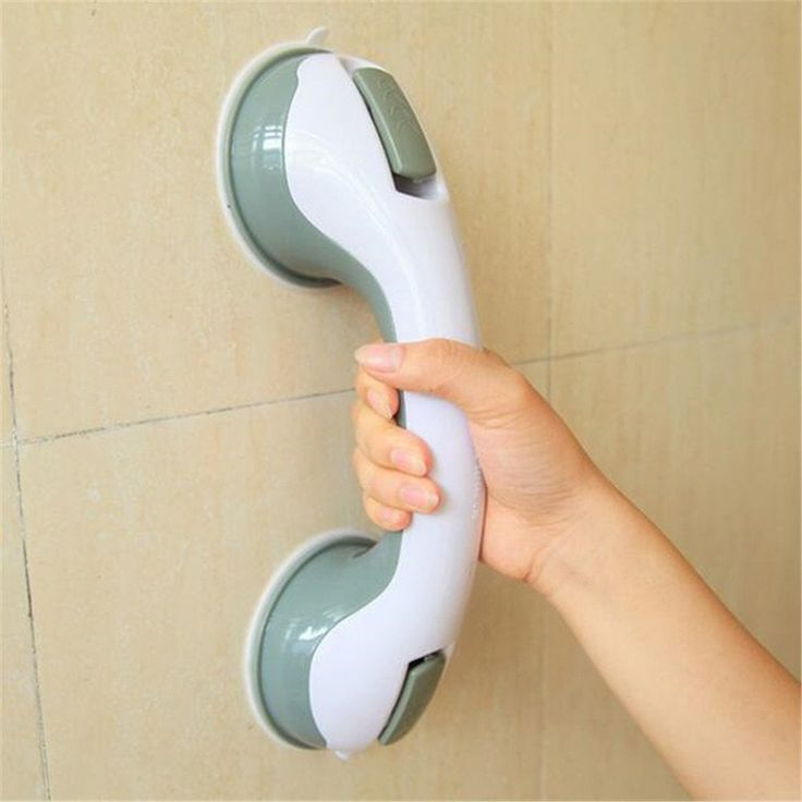 Safety Helping Handle Anti Slip Support Toilet Bathroom Safe Grab Bar Handle Vacuum Sucker Suction Cup - WHITE