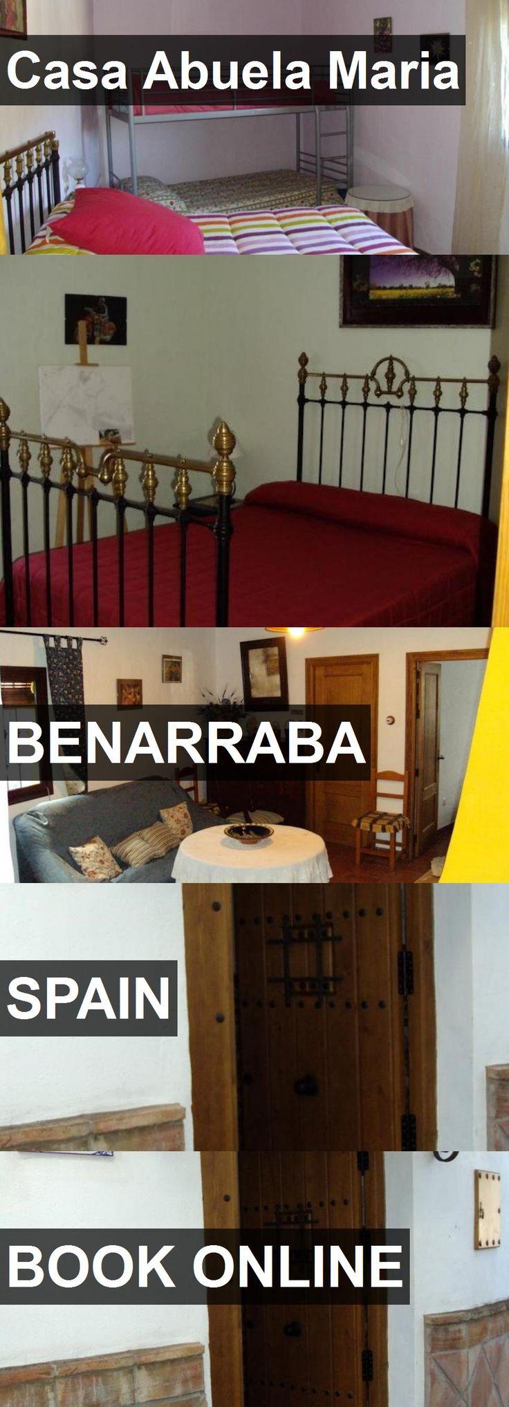 Hotel Casa Abuela Maria in Benarraba, Spain. For more information, photos, reviews and best prices please follow the link. #Spain #Benarraba #travel #vacation #hotel