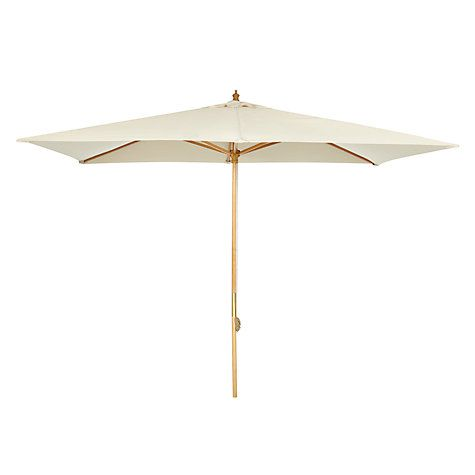 Buy John Lewis 3 x 2m Wooden Parasol, FSC-Certified (Sycamore), Oyster Online at johnlewis.com