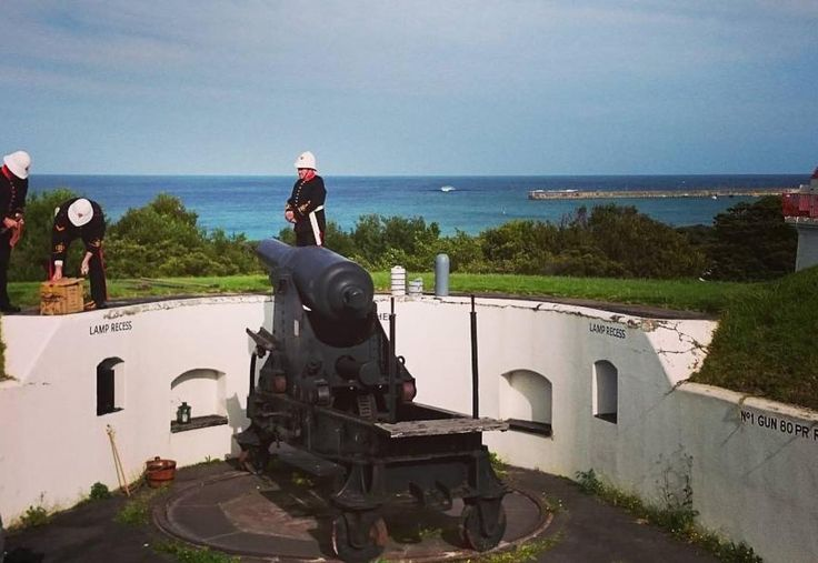 #Repost @chewsfolks  Volunteers preparing for the Cannon Garrison firing at Flagstaff Hill. Will be ready to cover the ears! #destinationwarrnambool #lovewarrnambool #love3280 #flagstaffhill #cannon #garrison #deafening #worldmuseumsday2016 #destinationwarrnambool #love3280 by destinationwarrnambool