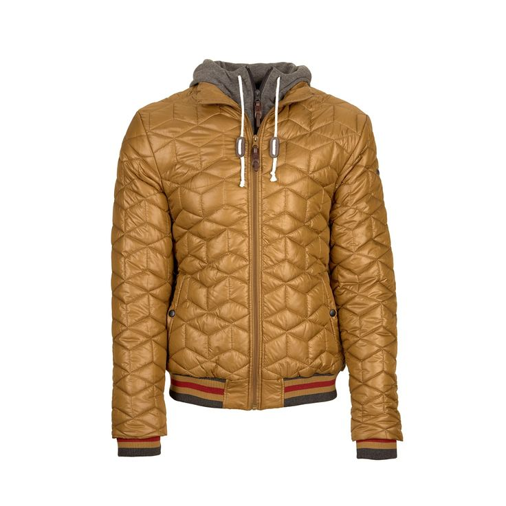 Urban quilted jacket for everyday city wear.