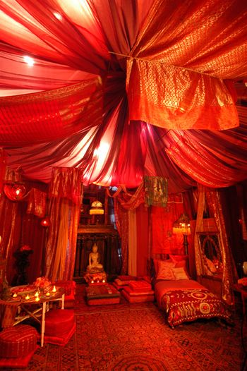The ancient Red Tent began as a cross-over between Goddess religion and very early Judaism.  Via Lisa Blinn.