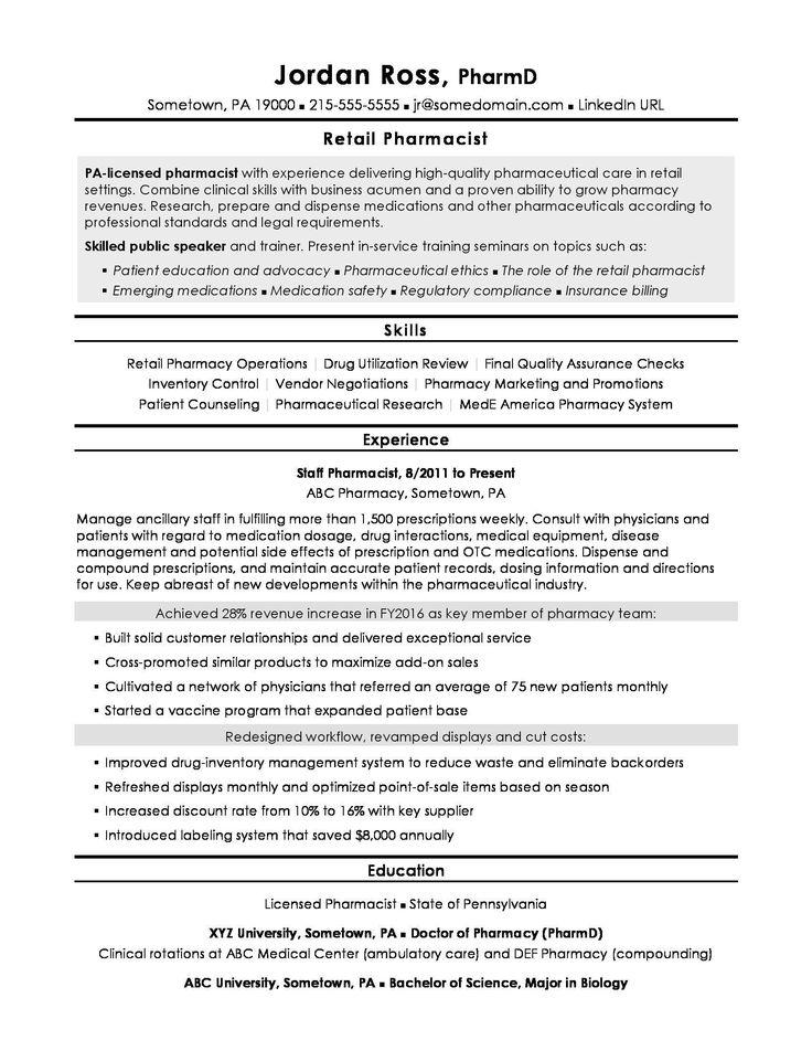 Pharmacy Technician Resume Objectives Very Good Pharmacist
