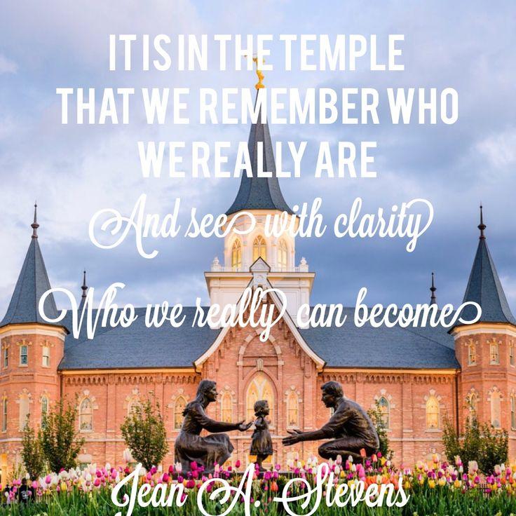 Jean A Stevens LDS Temple quote.