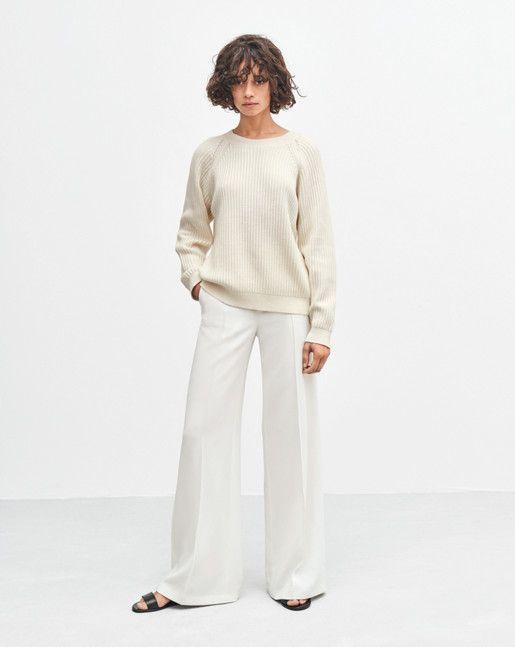 Rib Cotton Wool Pullover