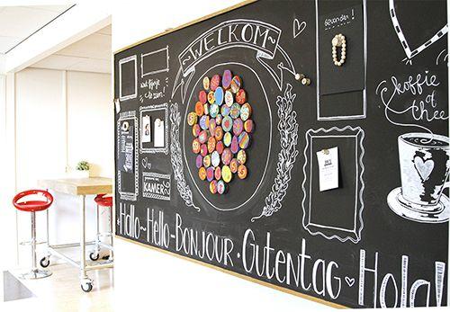 Ontworpen voor een basisschool als welkomstbord. Te gekke krijtborden met eigen design voor je kantoor, horeca, winkel, of waar dan ook!