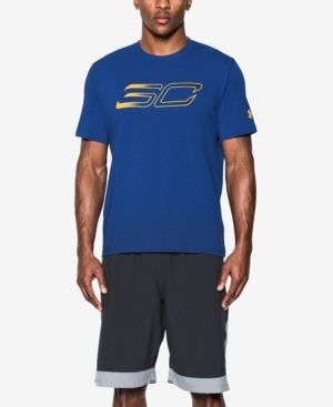 Under Armour Men's Stephen Curry Logo T-Shirt - Blue XXL