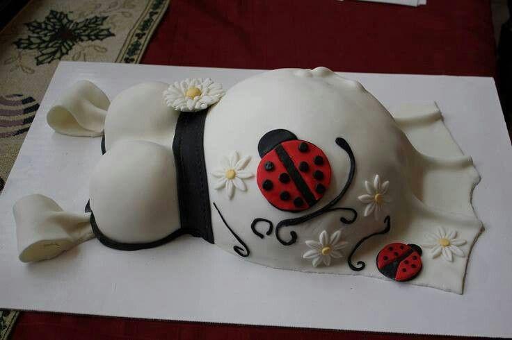 Ladybug baby shower cake!