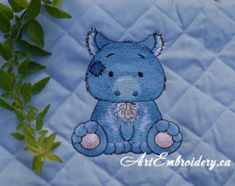 """Australian Wombat - Machine Embroidery Designs Set  for a Babies and Children of a series """"Old Toy"""" + Pumkin Design for FREE"""