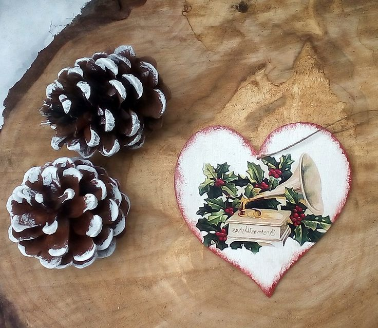 świąteczne serce na choinkę