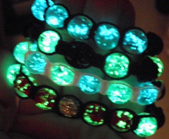 Glow in the Dark Shamballa inspired bracelet Children Fashion Rave Jewelry