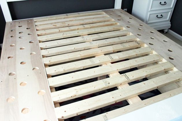 Modified King Size Farmhouse Bed With Storage Drawers