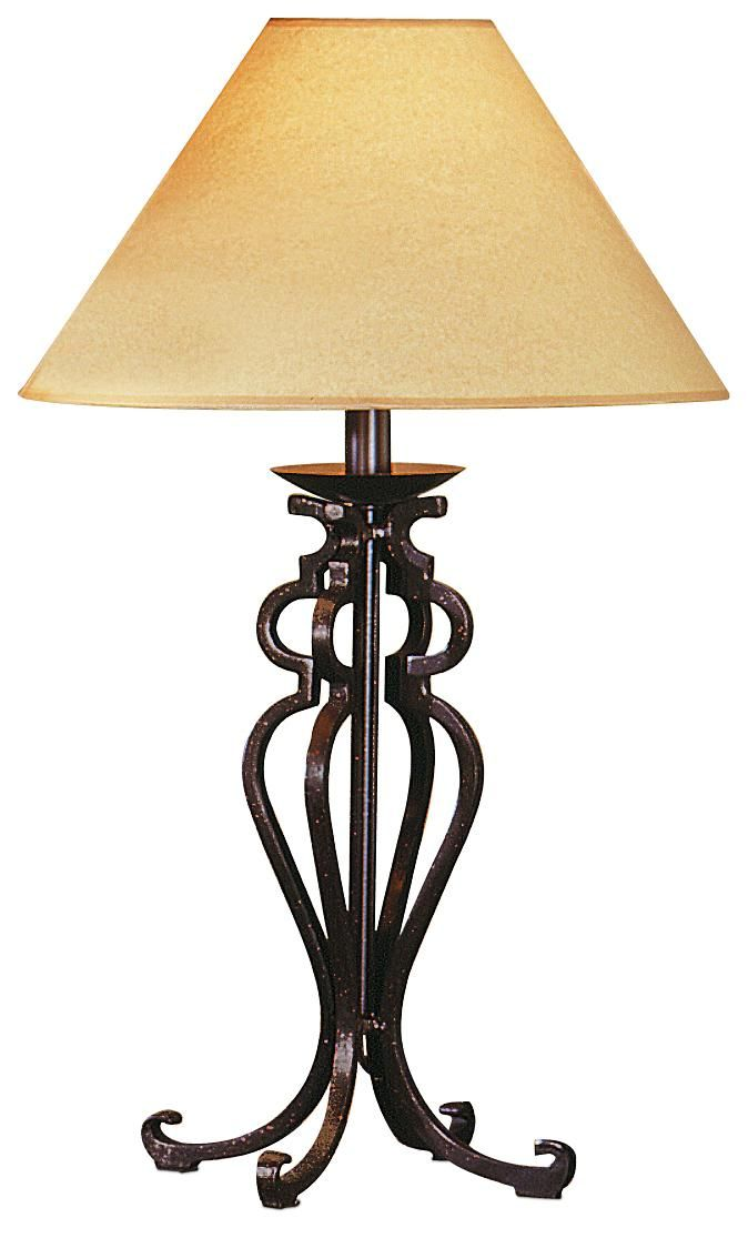 rustic wrought iron look table lamp. Black Bedroom Furniture Sets. Home Design Ideas
