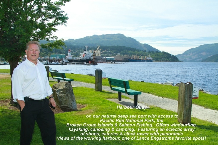 """Lance Engstrom enjoying the views at """"Harbour Quay"""""""
