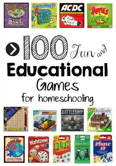 Games for Homeschooling? Yes!  Here's a list of the best of the best for each subject!