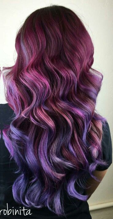 burgundy purple ombre dyed hair ms_robinita - Burgundy Violet Hair Color
