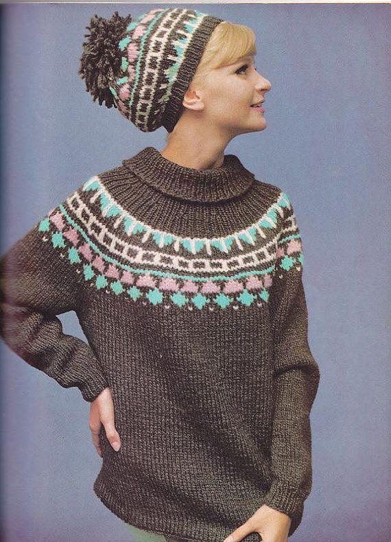 1967 Woman's Day Knitting Patterns Book Men Women Kids ...