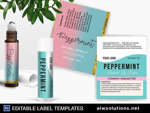 perfume roller ball template by AIW SOLUTIONS on @creativemarket