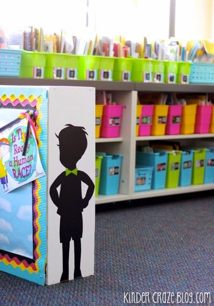 Kinder-Craze: A Kindergarten Teaching Blog: Silhouettes, File Cabinets, and Bright Colors, OH MY!