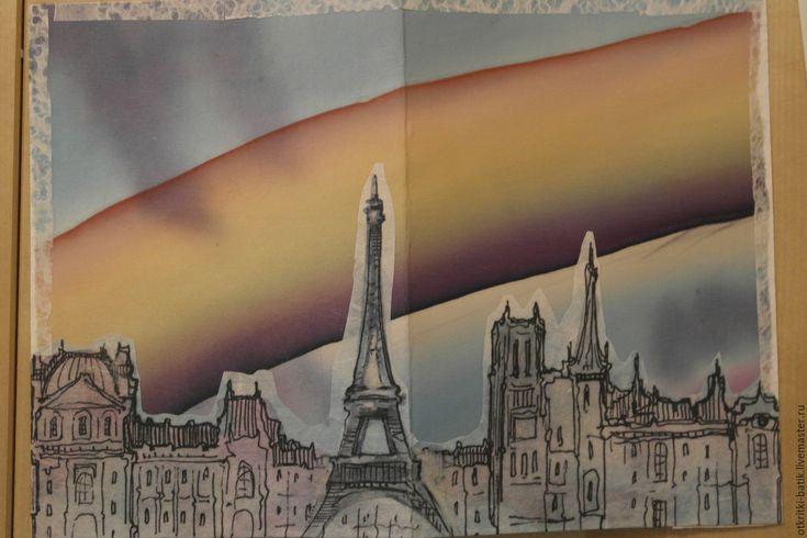 Купить Радужный мост - голубой, радужный, радуга, открытка, Открытка ручной работы, открытка на все случаи