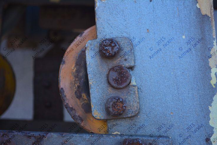Micro detail of industrial machine.