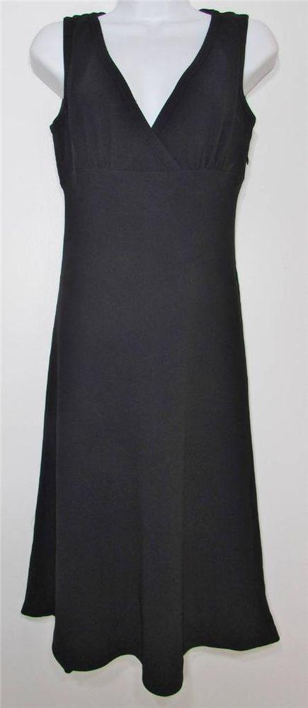Women Banana Republic Black Sleeveless Evening Dress Lined Knee Length sz 0 EUC #BananaRepublic #Sheath #Cocktail