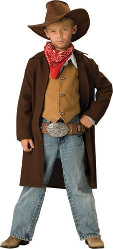 Disfraz en cuero sin curtir de vaquero renegado   -   Rawhide Renegade Cowboy Costume